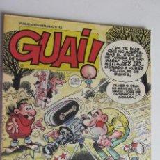 Cómics: GUAI Nº 45 CON ASTERIX Y LUCKY LUKE - EDICIONES JUNIOR GRIJALBO ARX55. Lote 278473773