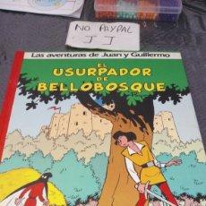 Comics: LAS AVENTURAS DE JUAN Y GUILLERMO EL USURPADOR DE BELLOBOSQUE GRIJALBO TAPA DURA. Lote 280642028