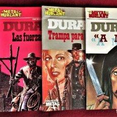 Cómics: DURANGO COMPLETA METAL HURLANT Nº 7, 12, 20 Y 25 EUROCOMIC 1982-87 EXCELENTE. VER FOTOS.. Lote 284371183