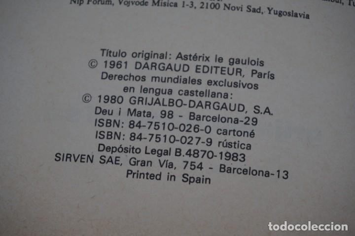 Cómics: TOMO 1 - LAS AVENTURAS DE ASTERIX - UDERZO / GOSCINNY - GRIJALBO - DARGAUD 1983 - Foto 5 - 284720933