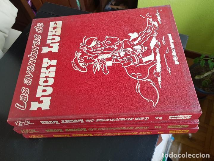 COLECCIÓN CASI COMPLETA TEBEOS LAS AVENTURAS DE LUCHY LUKE TOMOS 1-2-3 MORRIS GRIJALBO DARGAUD 1982 (Tebeos y Comics - Grijalbo - Lucky Luke)
