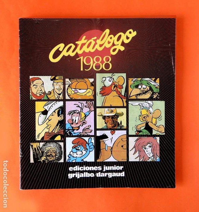 CATALOGO 1988 - EDICIONES JUNIOR - GRIJALBO/DARGAUD - GRUPO EDITORIAL - DIFÍCIL (Tebeos y Comics - Grijalbo - Otros)