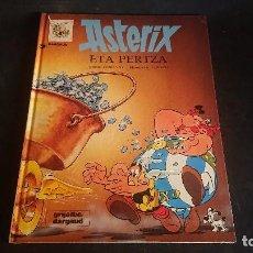 Cómics: TEBEO ASTERIX , ETA PERTZA , TAPA DURA ( EN EUSKERA ) , LEER DESCRIPCION. Lote 288579698