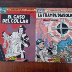 Cómics: 2 CÓMICS LAS AVENTURAS DE BLAKE Y MORTIMER: EL CASO DEL COLLAR Y LA TRAMPA DIABÓLICA 6 Y 7. Lote 288680323