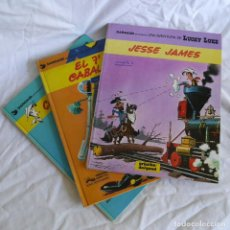 Cómics: 3 NÚMEROS DE LUCKY LUKE, GRIJALBO, CANYON APACHE + JESSE JAMES + EL 7º DE CABALLERÍA. Lote 288720898