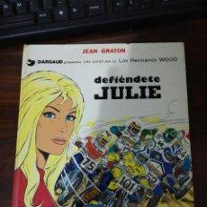Cómics: DEFIÉNDETE JULIE. JEAN GRATON. DARGAUD. UNA AVENTURA DE LOS HERMANOS WOOD- TOMO 2. BARCELONA, 1977. Lote 289643018