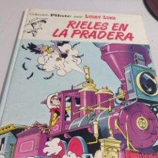 Cómics: LUCKY LUKE COLECCIÓN PILOTE - RIELES EN LA PRADERA - 1974 - BRUGUERA . REF. UR MES. Lote 293493188