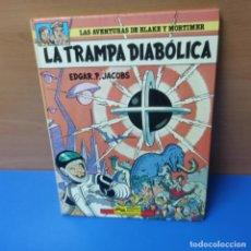 Cómics: LAS AVENTURAS DE BLAKE Y MORTIMER - LA TRAMPA DIABOLICA - EDGAR P JACOBS - EDICIONES JUNIOR. Lote 296003388