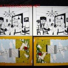Cómics: 4 POSTALES COMPLEMENTO DE LA EDICIÓN DEL CONOCIDO TINTIN APÓCRIFO: TINTIN EN SUIZA. Lote 45163825