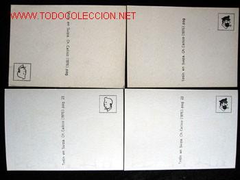 Cómics: 4 POSTALES complemento de la edición del conocido tintin apócrifo: TINTIN EN SUIZA - Foto 3 - 45163825