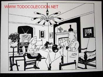 Cómics: 4 POSTALES complemento de la edición del conocido tintin apócrifo: TINTIN EN SUIZA - Foto 4 - 45163825