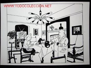 Cómics: 4 POSTALES complemento de la edición del conocido tintin apócrifo: TINTIN EN SUIZA - Foto 8 - 45163825
