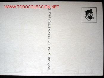 Cómics: 4 POSTALES complemento de la edición del conocido tintin apócrifo: TINTIN EN SUIZA - Foto 9 - 45163825