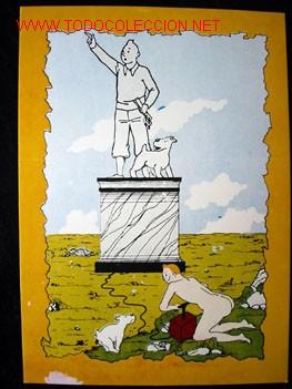 Cómics: 4 POSTALES complemento de la edición del conocido tintin apócrifo: TINTIN EN SUIZA - Foto 10 - 45163825