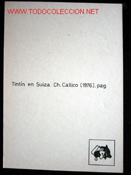 Cómics: 4 POSTALES complemento de la edición del conocido tintin apócrifo: TINTIN EN SUIZA - Foto 11 - 45163825