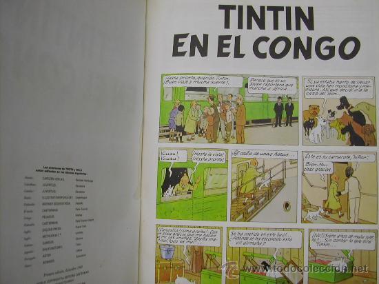 Cómics: CUATRO TINTIN HERGE JUVENTUD PRIMERA EDICION ENCUADERNADOS EN UN TOMO. CONGO TIBET STOCK CIGARROS - Foto 5 - 21313544