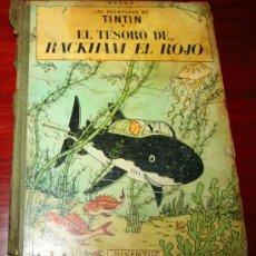 Cómics: TINTIN - EL TESORO DE RACKHAM EL ROJO - HERGE - LOMO TELA 4ª EDICIÓN 1967 - ED. JUVENTUD. Lote 27159585