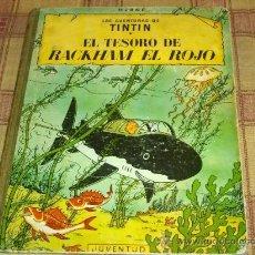 Cómics: TINTIN EL TESORO DE RACKHAM EL ROJO. JUVENTUD TERCERA EDICIÓN 1965. REGALO JOYAS CASTAFIORE.. Lote 16260314