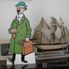 Cómics: CARTEL ANUNCIO PROFESOR TORNASOL (TINTIN-HERGE) 48X21. Lote 27138539