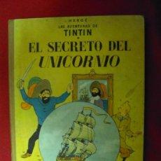 Cómics: TINTIN-EL SECRETO DEL UNICORNIO - 5ª EDICION -HERGE-EDITORIAL JUVENTUD - LOMO DE TELA. Lote 26875060