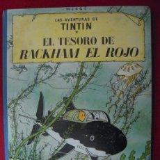 Fumetti: TINTIN-EL TESORO DE RACKHAM EL ROJO - 4ª EDICION - HERGE-EDITORIAL JUVENTUD - LOMO DE TELA. Lote 27192028