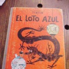 Cómics: LAS AVENTURAS DE TINTIN. HERGE. EL LOTO AZUL. 1ª EDICION 1965. LOMO AZUL. EDITORIAL JUVENTUD. Lote 111433196