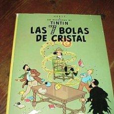 Cómics: LAS 7 BOLAS DE CRISTAL. LAS AVENTURAS DE TINTIN. HERGE. EDIT. JUVENTUD. 11ª EDICION 1988.. Lote 17947901