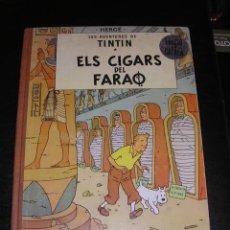 Cómics: TINTIN - ELS CIGARS DEL FARAO, EDICIO EN CATALA, 2 EDC 1965 , EDT. JUVENTUD. Lote 18609132