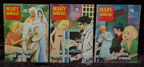 LOTE DE 3 REVISTAS JUVENILES FEMENINAS-MARY (Tebeos y Comics - Juventud - Otros)