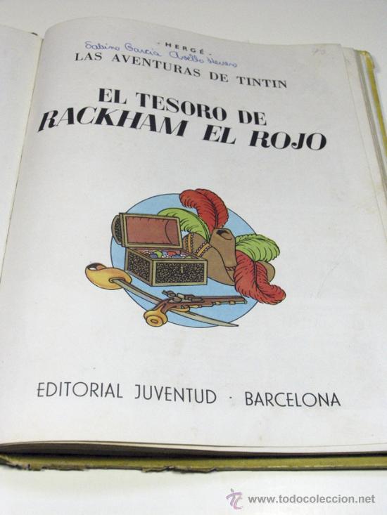 Cómics: LAS AVENTURAS DE TINTIN. EL TESORO DE RACKHAM EL ROJO. JUVENTUD 4ª EDICIÓN. 1967 - Foto 2 - 22406457