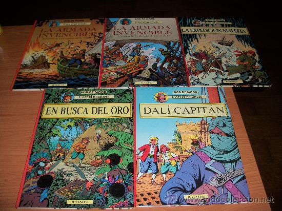 CORI EL GRUMETE COLECCION COMPLETA 5 TOMOS EDITORIAL JUVENTUT DE BOB DE MOOR IMPECABLES (Tebeos y Comics - Juventud - Cori el Grumete)