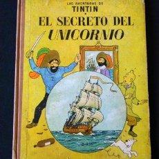Cómics: ANTIGUO CÓMIC TINTÍN EL SECRETO DEL UNICORNIO HERGÉ 3ª EDICIÓN 1965 EDITORIAL JUVENTUD AVENTURA. Lote 32563931