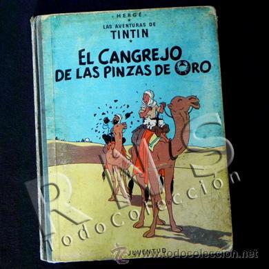 CÓMIC TINTÍN - EL CANGREJO DE LAS PINZAS DE ORO - 2ª EDICIÓN AÑO 1966 - AVENTURA HERGÉ JUVENTUD (Tebeos y Comics - Juventud - Tintín)