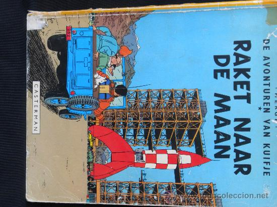 TINTIN.IDIOMA : HOLANDES, RAKET NAAR DE MANN (CASTERMAN) 1953 (Tebeos y Comics - Juventud - Tintín)