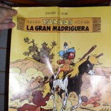 Cómics: CARTEL YAKARI LA GRAN MADRIGUERA. DERIB I JOB. 38 X 28,5. Lote 28612549