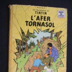Cómics: LES AVENTURES DE TINTIN - L'AFER TORNASOL - PRIMERA (1ª) EDICION - LOMO TELA - EN CATALAN - . Lote 28969480
