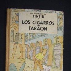 Cómics: LAS AVENTURAS DE TINTIN - LOS CIGARROS DEL FARAON - SEGUNDA (2ª) EDICION - LOMO TELA - . Lote 28969574