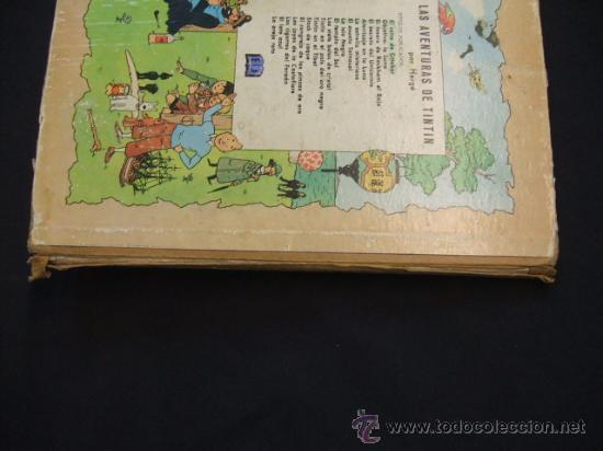 Cómics: LAS AVENTURAS DE TINTIN - LOS CIGARROS DEL FARAON - SEGUNDA (2ª) EDICION - LOMO TELA - - Foto 6 - 28969574