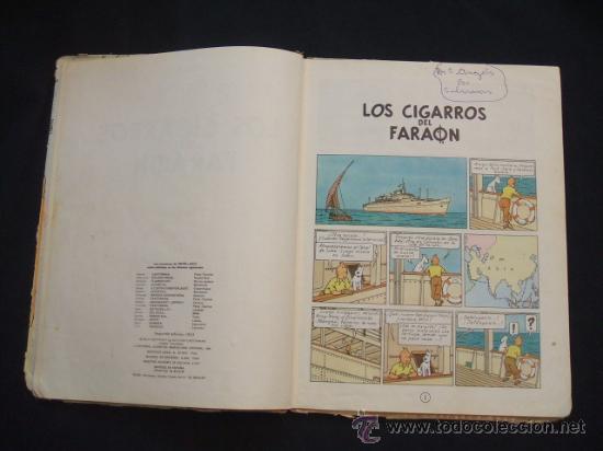 Cómics: LAS AVENTURAS DE TINTIN - LOS CIGARROS DEL FARAON - SEGUNDA (2ª) EDICION - LOMO TELA - - Foto 10 - 28969574