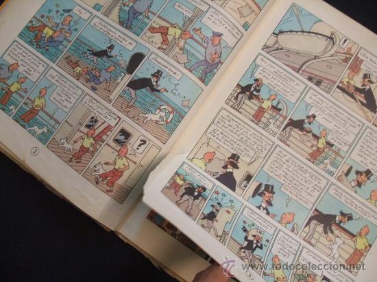Cómics: LAS AVENTURAS DE TINTIN - LOS CIGARROS DEL FARAON - SEGUNDA (2ª) EDICION - LOMO TELA - - Foto 13 - 28969574