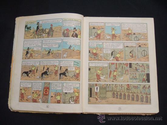 Cómics: LAS AVENTURAS DE TINTIN - LOS CIGARROS DEL FARAON - SEGUNDA (2ª) EDICION - LOMO TELA - - Foto 14 - 28969574