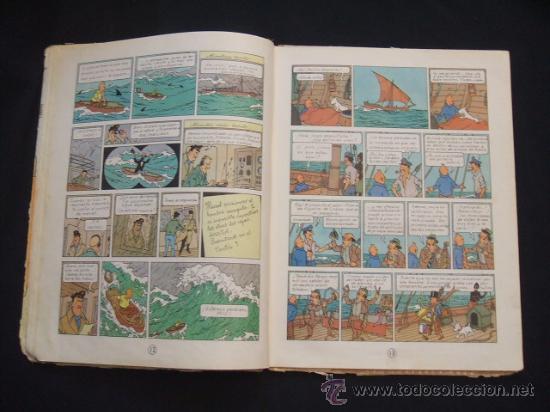 Cómics: LAS AVENTURAS DE TINTIN - LOS CIGARROS DEL FARAON - SEGUNDA (2ª) EDICION - LOMO TELA - - Foto 15 - 28969574
