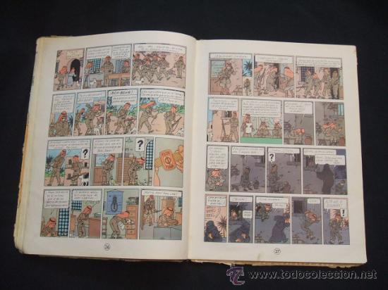 Cómics: LAS AVENTURAS DE TINTIN - LOS CIGARROS DEL FARAON - SEGUNDA (2ª) EDICION - LOMO TELA - - Foto 17 - 28969574
