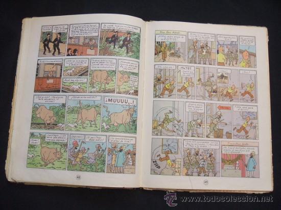 Cómics: LAS AVENTURAS DE TINTIN - LOS CIGARROS DEL FARAON - SEGUNDA (2ª) EDICION - LOMO TELA - - Foto 20 - 28969574