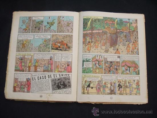 Cómics: LAS AVENTURAS DE TINTIN - LOS CIGARROS DEL FARAON - SEGUNDA (2ª) EDICION - LOMO TELA - - Foto 22 - 28969574