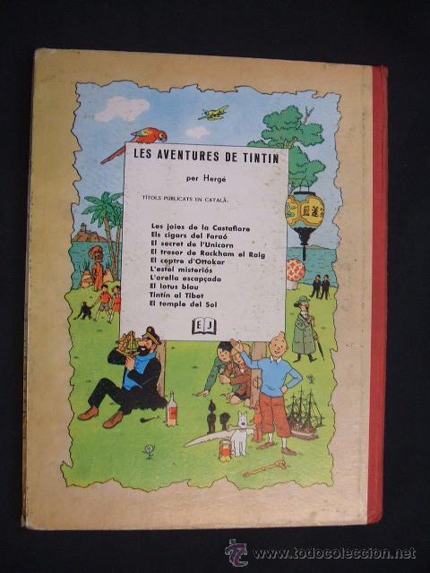 Cómics: LES AVENTURES DE TINTIN - LESTEL MISTERIOS - PRIMERA (1ª) EDICION - LOMO TELA - - Foto 2 - 28970235