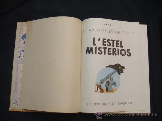 Cómics: LES AVENTURES DE TINTIN - LESTEL MISTERIOS - PRIMERA (1ª) EDICION - LOMO TELA - - Foto 9 - 28970235