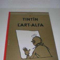 Cómics: TINTÍN 24. TINTIN I L`ART ALFA - JOVENTUT - EDICIÓ ACTUAL NUMERADA (CATALÀ). Lote 181706636