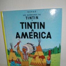 Cómics: TINTÍN 3. TINTÍN A AMÈRICA - JOVENTUT - EDICIÓ ACTUAL NUMERADA (CATALÀ). Lote 127209735