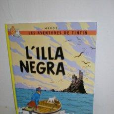 Cómics: TINTIN 7. L`ILLA NEGRA - JOVENTUT - EDICIÓ ACTUAL NUMERADA (CATALÀ). Lote 29605634